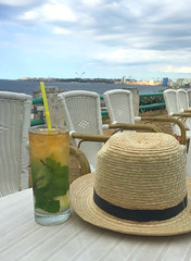 Mojitos (rosierosanna) Tags: cuba havana hotelnacionaldecuba hotelnacional mojito sunset hat travel