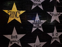 First Avenue (amee@work) Tags: musicians first avenue minneapolis august 2016 fujifilm x100t prince nirvana ratm concert venue wall