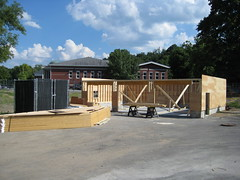 42 Carriage House ready for roof (chelmsfordpubliclibrary) Tags: cpl chelmsford chelmsfordpubliclibrary chelmsfordlibrary greenway