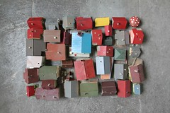 ...feeling like a bird (virginhoney) Tags: roofs houses miniature tiny atelier studio collection house colorful fleamarket finds