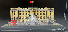 The LEGO building dimensions of Buckingham Palace (WhiteFang (Eurobricks)) Tags: lego architecture set landmark country buckingham palace victoria elizabeth royal royalty family crown jewel imperial statue tourist united kingdom uk micro bus taxi