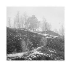 Snowitude (rockallkalle) Tags: black white landscape snow olympus trip 35mm fujicolour superia 200