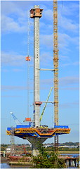 Mersey Gateway Project (Southern Pylon) 12th October 2016 (Cassini2008) Tags: merseygatewayproject rubricaengineering formtraveller rubricaformtraveller rubrica bridgeconstruction engineering rivermersey