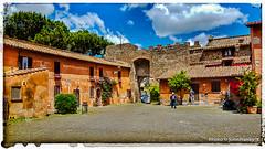 Il Borghetto di Ostia Antica-The village of Ostia Antica(7/7) (johnfranky_t) Tags: castello borgo ostia antica mura giulio ii samsung s6 village clouds roma