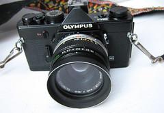 Olympus om1 black (zaphad1) Tags: olympus om1 black analog film camera 35mm manual prism swap om10 repair viewfinder 50mm 18 lens f18 degrading foam old creative commons
