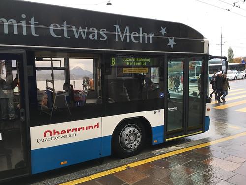 VBL Trolleybus #212 in Lucerne, Switzerland