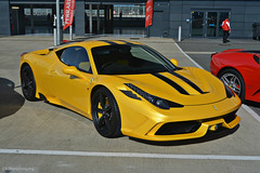 Ferrari 458 Speciale (CA Photography2012) Tags: rj14jdx ferrari 458 speciale coupe v8 supercar berlinetta special edition yellow giallo fly sportscar super sports italia prancing horse ca photography automotive exotic car spotting passione silverstone 2016