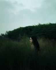 Maria (Daniel Galan Lorente) Tags: girl plant green blue bluehour sunset model pentax spain fineartphotography fineart fine art