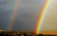 Double rainbow (joybidge (0n vacation)) Tags: trishcanada naturepatternscanada mauihawaii rainbow doublerainbow storm stormclouds
