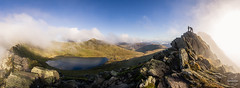 Striding Edge Climbers (tristantinn) Tags: helvellyn lakedistrict cumbria climbers mountain ridge edge uk england britain mist morning drama mountaineering