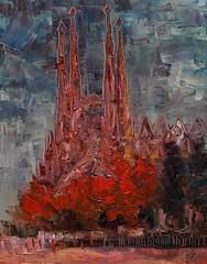 Sagrada Familia (Arturo Espinosa) Tags: familia cityscape gaud sagrada oilpaletteknife