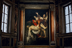 "Caravaggio, La deposizione ( copia - Chiesa Nuova) • <a style=""font-size:0.8em;"" href=""http://www.flickr.com/photos/89679026@N00/15673524339/"" target=""_blank"">View on Flickr</a>"