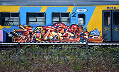 traingraffiti (wojofoto) Tags: treingraffiti trein train traingraffiti amsterdam wojofoto graffiti mister wolfgangjosten nederland netherland holland