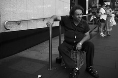 Bulging (Vincent Albanese) Tags: street summer people bw woman man bike mystery project fuji sydney streetphotography australia stranger statement fujifilm peoplewatching bulge middaysun mirrorless xpro1 fujixpro1 xf18mm