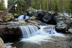 Falls on Middle Tensleep Creek (offtrailjeff) Tags: lake mountains west waterfall big october falls bighorn horn meadowlark tensleep 2014