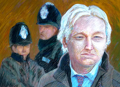 Julian Assange (Alex Dellow alx35) Tags: alex painting julian dellow assange alx35