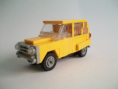 Model Transport (TechnicNick) Tags: car model lego 4 transport citroen ds renault mg lorry bmw 2cv 520 mgb