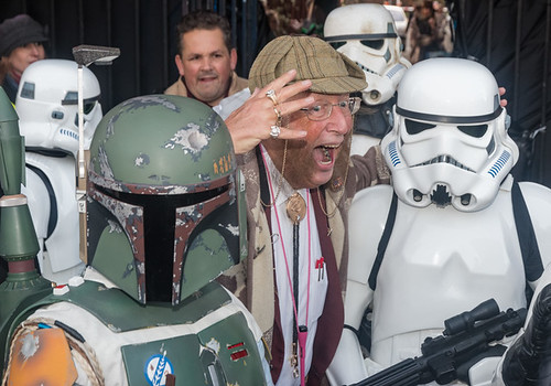 Four to one, John McCririck gives the storm troopers a pre-race tip