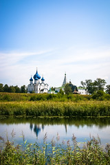 Cathedral of the Nativity view from the opposite side of the Kamenka river, Suzdal (inchiki tour) Tags: travel church architecture fairytale river landscape photo europe cathedral russia orthodox  suzdal worldheritage 2014  goldenring       kamenka