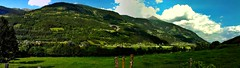 Mountains (july 2013) (svatava_teflov) Tags: camera summer vacation sky panorama sun mountain holiday mountains alps cold color green nature grass austria photo scenery phone july excited older thealps phonecamera summerholiday olderphoto winterholiday incolor obervellach therewillbesnow