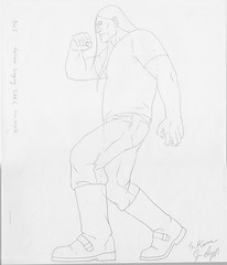 Metalocalypse - Nathan Explosion SIGNED DRAWING (candoartist) Tags: animation animationart dethklok metalocalypse nathanexplosion productiondrawing