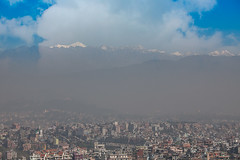 Nepal : Kathmandu #2 (foto_morgana) Tags: travel nepal landscape smog asia scenic panoramic highland kathmandu himalaya everest lightroom kathmanduvalley mountainous ononephotos