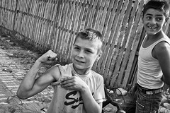 The strongest boy in Sinca (Mikael Good) Tags: road people roma lost israel team sweden good 10 jacob dive reporter photojournalism romano romania ten reuben sverige 12 tribe migration linkping jnkping til mikael photojournalist the husqvarna romany amaro romani hjrta rumnien fotojournalist antiziganism pauleasca eumigrant