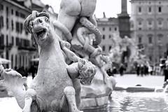 iLoveRoma ( pix&love) Tags: copyright blackwhite nikon piazzanavona biancoenero d610 105ais paololivornosfriends pixlove