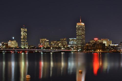 Boston Skyline from Memorial Drive.