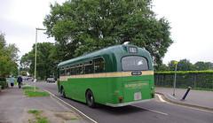 DB742.  AEC Reliance. (Ron Fisher) Tags: uk greatbritain england bus green pentax unitedkingdom transport gb publictransport farnborough reliance aec pentaxkx aecreliance aldershotdistrict farnboroughbusrunningday