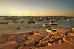 Boats... (hobbit68) Tags: sunset sky holiday beach clouds strand boats alt urlaub himmel wolken andalucia espana sonne spanien sonnenschein