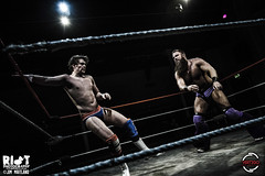 Danny Jones vs Saul Adams 2 (riotduck) Tags: justin storm dave ian cub panda williams adams wrestling mastiff cardiff vertigo pro jonny saul vpw wonderkid sysum