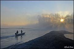 Alba sul Ticino (alfvet) Tags: water sunrise river ticino nikon alba fiume natura sole acqua vigevano parcodelticino veterinarifotografi