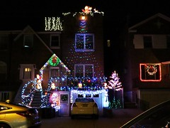 Astoria Queens, NY (lotos_leo) Tags: christmas light urban holiday ny night decoration queens astoria lightshow streetny