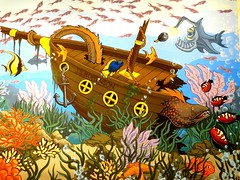 Really Eel-y (e r j k . a m e r j k a) Tags: fish whimsy pennsylvania murals shipwreck publicart robinson seabed erjkprunczyk