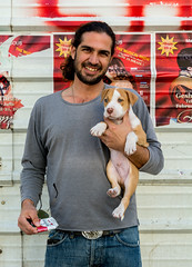 Nir & Beejo - Strangers # 1097 / 1100 (Poupetta aka Ann) Tags: puppy telaviv stranger pitbull nir