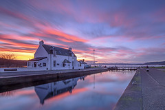 Clacnaharry Lock House (johnellis70) Tags: sunset se scotland canal lock inverness caledonian