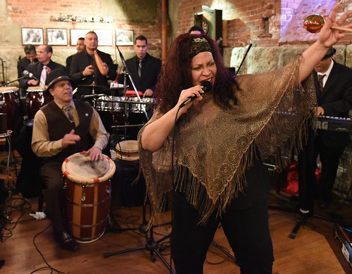 Salsa y Gaitas at Secretary of State Nellie Gorbea's Inauguration reception at Union Station Brewery. Photo by Elaine Fredrick.