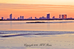 Magic Hour Atlantic City Skyline & Wetlands from Loop Drive at Edwin B Forsythe National Wildlife Refuge in Galloway (commonly referred as Brigantine) New Jersey (takegoro) Tags: pink b sunset nature skyline buildings reflections landscape twilight skyscrapers dusk wildlife wetlands marsh resorts brigantine preserve sanctuary casinos edwin refuge galloway nwr new city jersey national golden refuge magic atlantic hour forsythe