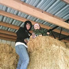 Shan & Em (ShanMcG213) Tags: barn toddler farm hay em emmarose farmlife farmgirls