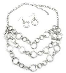 5th Avenue Silver Necklace P2210A-3