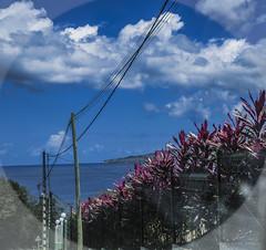 Les flancs de la Montagne Pele vue depuis le Carbet French West Indies. (ghislaine13) Tags: blue sea canon paradise raw martinique ile antilles caraibes westindies llileaufleur