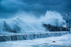 Storm (Siminis) Tags: sea storm weather clouds harbor waves wind cloudy windy greece crete siminis