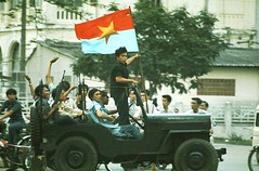 Fall of Saigon (manhhai) Tags: vietnam saigon armed offensive|military slide|horizontal|color clothing|military garment|military asia|serviceman|military vehicle|victory|victory conflict|vietnamese|the seventies|firearm|army|armament|arms|asian|communism|flag|vietna flag|emblem|group|war|history|man|jeep|military|military uniform|color photo|color|vietnam operation|dress|uniform|military