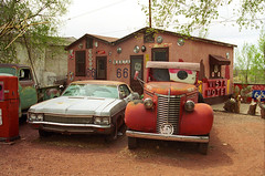 Route 66 - Snow Cap Drive-In (Frank Footer Fotos) Tags: auto road trip travel vacation arizona usa snow southwest west art classic cars chevrolet ice wall america truck vintage movie photography freedom restaurant drive hotel town cafe eyes juan cone framed famous small fine mother cream murals motel pickup az roadtrip mater 66 historic retro drivein adventure pump business route nostalgia chevy bumper cap burgers posters buy vehicle prints americana kicks motor roadside rt joint attractions seligman snowcap delgadillo