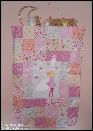Colcha cama de grades Blooming Fairies II-1
