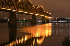 Big Four Bridge (stallard.r) Tags: skyline kentucky louisville ohioriver