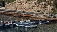 Barquitas (candi...) Tags: mar agua barca carretera rocas ametllademar sonya77