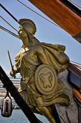 Figurehead on HMS Surprise, San Diego, CA (Dave & Nicole Moore) Tags: california berkeley sandiego windjammer tallship maritimemuseum californian sailingship starofindia sandiegobay harbordrive downtownsandiego sandiegoharbor hmssurprise sandiegomaritimemuseum portofsandiego maritimemuseumofsandiego