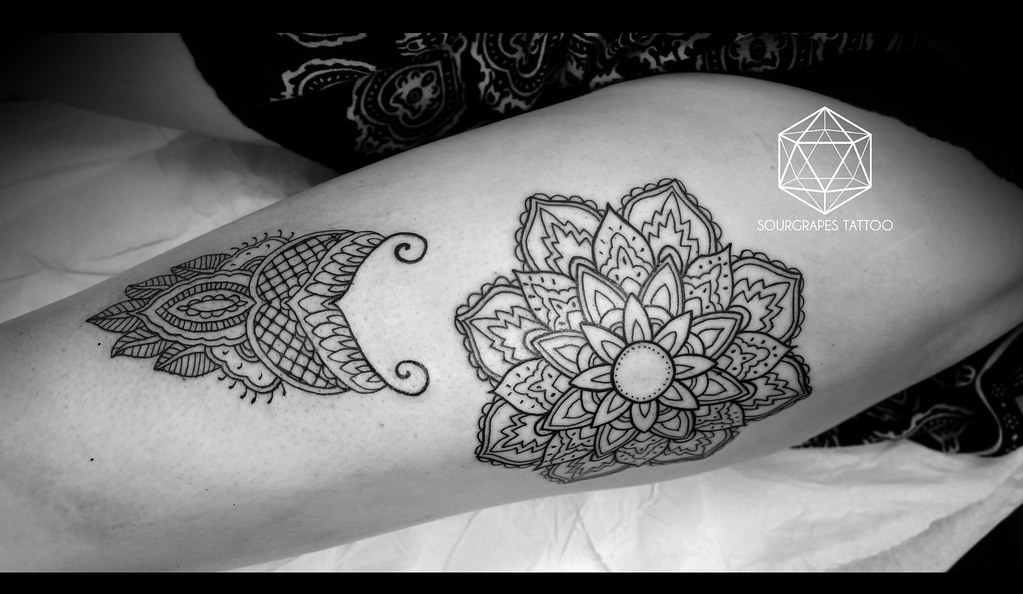 The world 39 s best photos of mandala and watercolour for Stencil stuff tattoo